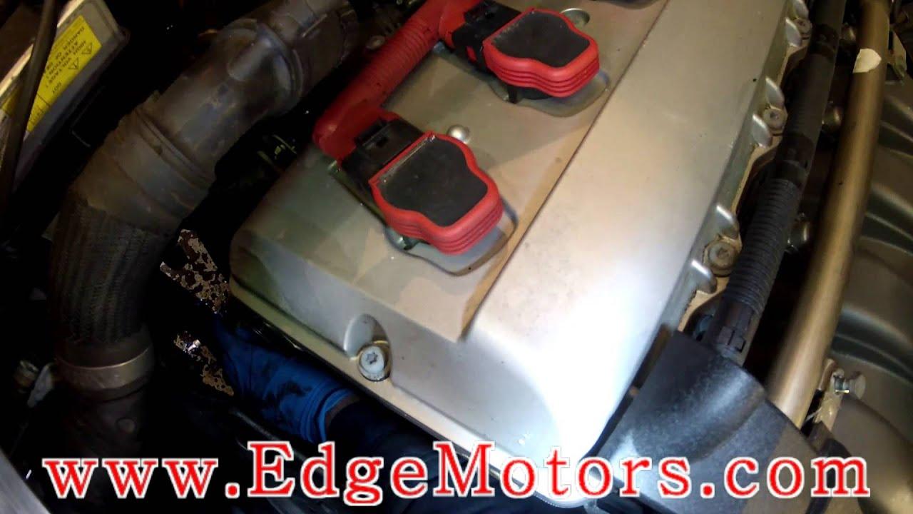 audi s4 4 2l alternator belt and tensioner replacement diy by edge motors [ 1280 x 720 Pixel ]
