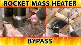 """rocket mass heater bypass - excerpt from """"Better Wood Heat"""" DVDs"""