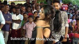 lala kadai shanthi Tamil song Dance Performance on street   Kulasai Dasara - Part 2