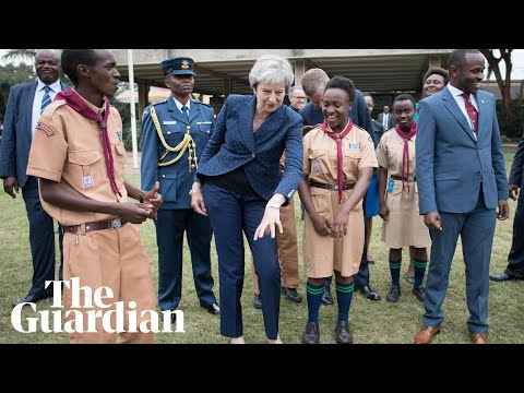 Theresa May dances (again) as she wraps up Africa trip
