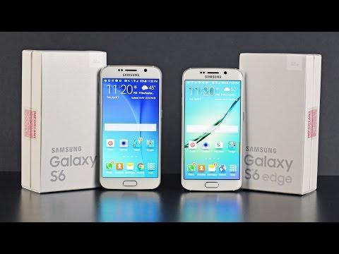 Samsung Galaxy S6 vs S6 Edge: Unboxing & Comparison