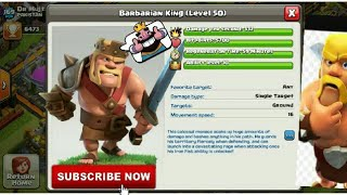 Clash Of Clans   New MAX Barbarian King Level 50   December 2017 Game Updates   Clash With Bhargav