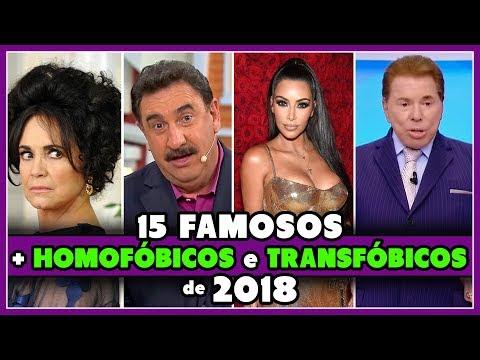 15 FAMOSOS + HOMOFÓBICOS e TRANSFÓBICOS de 2018 - Põe Na Roda