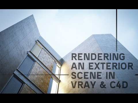 Rendering an exterior scene vray for c4d part01 youtube
