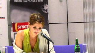 Stana Katic sings to fans at 51st Zlin Film Festival