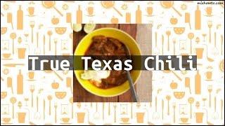 Recipe True Texas Chili