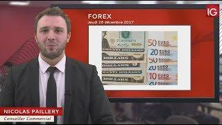 Bourse - EUR/USD, proche du plus haut mensuel - IG 28.12.2017