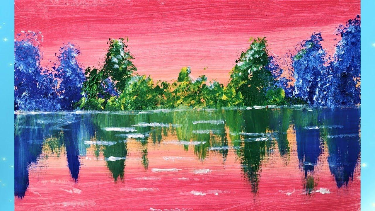 Как просто нарисовать фольгой летний пейзаж