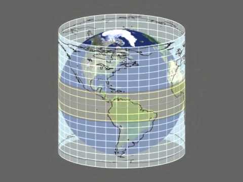 Map projection of Earth .avi