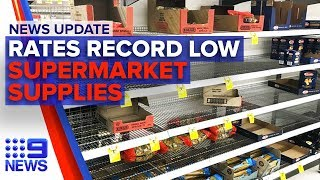 News Update: RBA record low, Coronavirus supermarket response | Nine News Australia