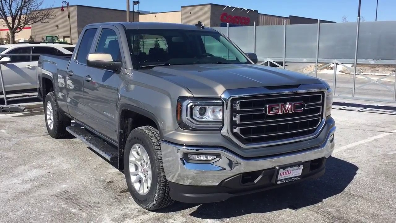 2017 gmc sierra 1500 sle 4wd double cab running boards pepperdust oshawa on stock 170971 youtube. Black Bedroom Furniture Sets. Home Design Ideas