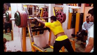 Mr.mr.india  Sandeep Duggal  180.kg squit at The Friends Gym