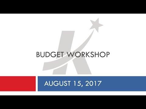 August 15 Budget Workshop