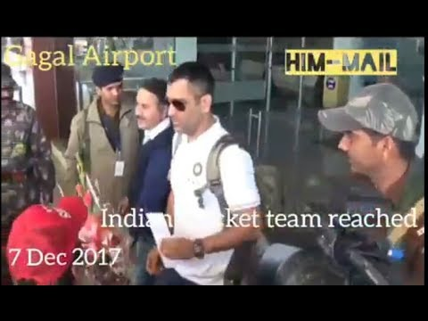Indian Cricket team arrival at Dharamshala