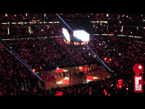 Chicago Bulls starting lineup introductions for Derrick Rose
