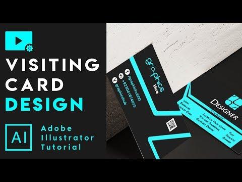 How to make Visiting Card Design - Adobe Illustrator Tutorial thumbnail