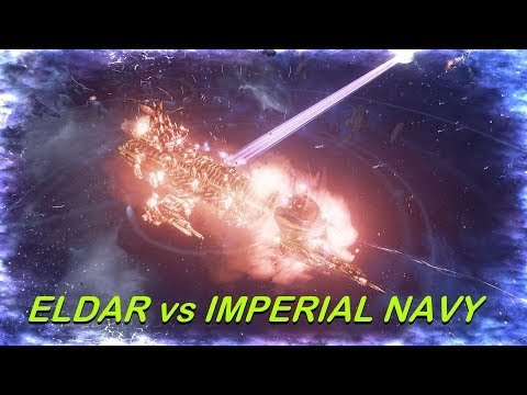 Eldar vs Imperial Navy! Rank 74, Heroic Difficulty, 1500 Points - Battlefleet Gothic Armada