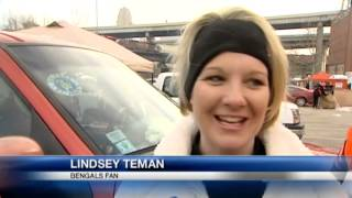 Fans tailgate in the cold for Bengals game