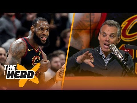 Colin Cowherd on LeBron's 40-pt triple-double and compares Jordan, Tiger and King James   THE HERD