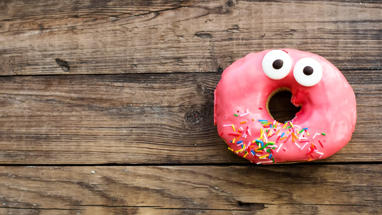 Открытки добрым, смешные картинки пончик