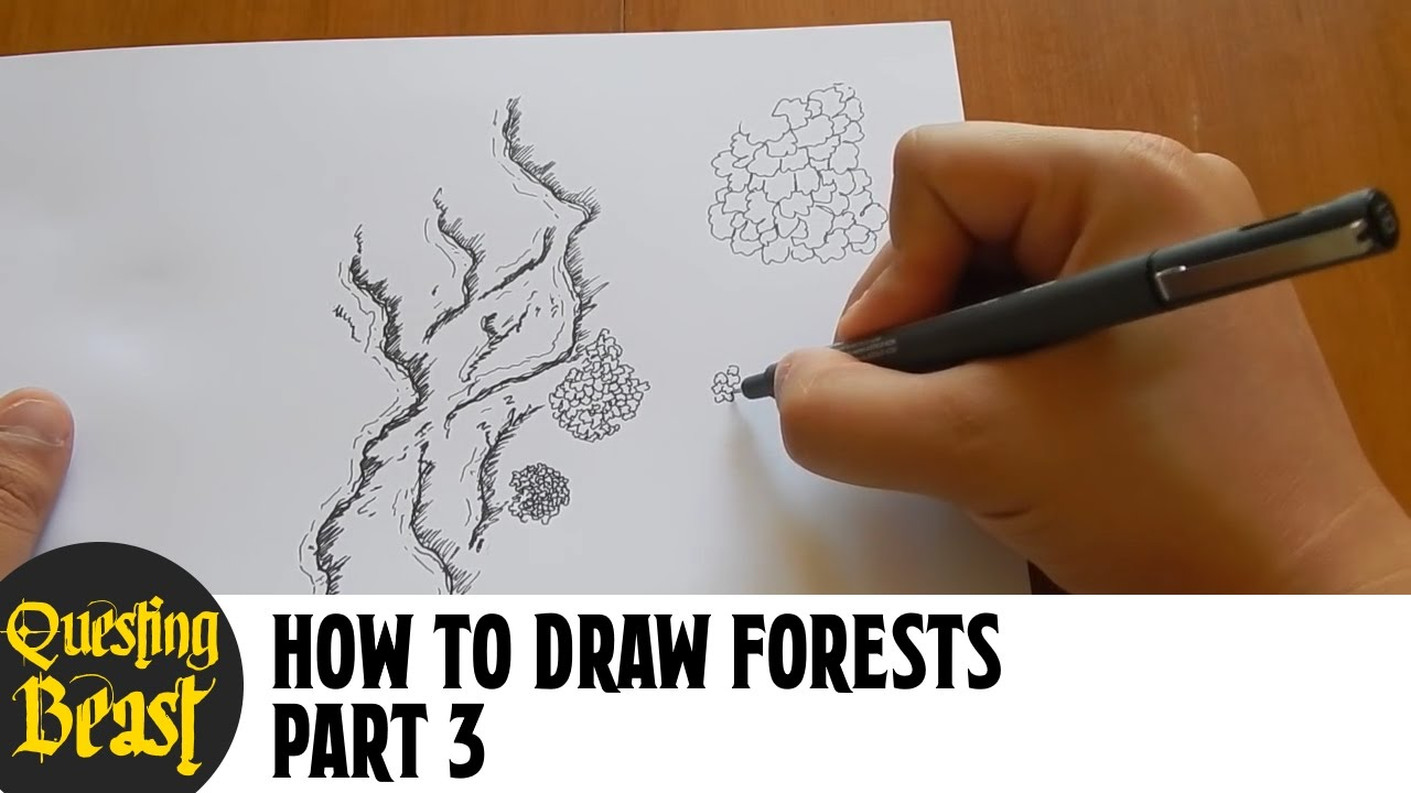 How to Draw Forests - Part 3: Fantasy Map Making Tutorial for DnD