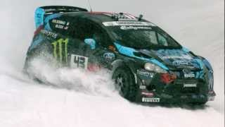 Ken Block tests for Sno*Drift 2013: With face melting metal and slo-mo.