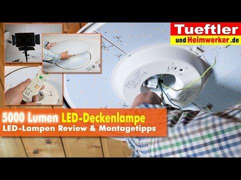 Richtig helle 5000 Lumen LED-Deckenlampe Joel  - Tüftler DIY