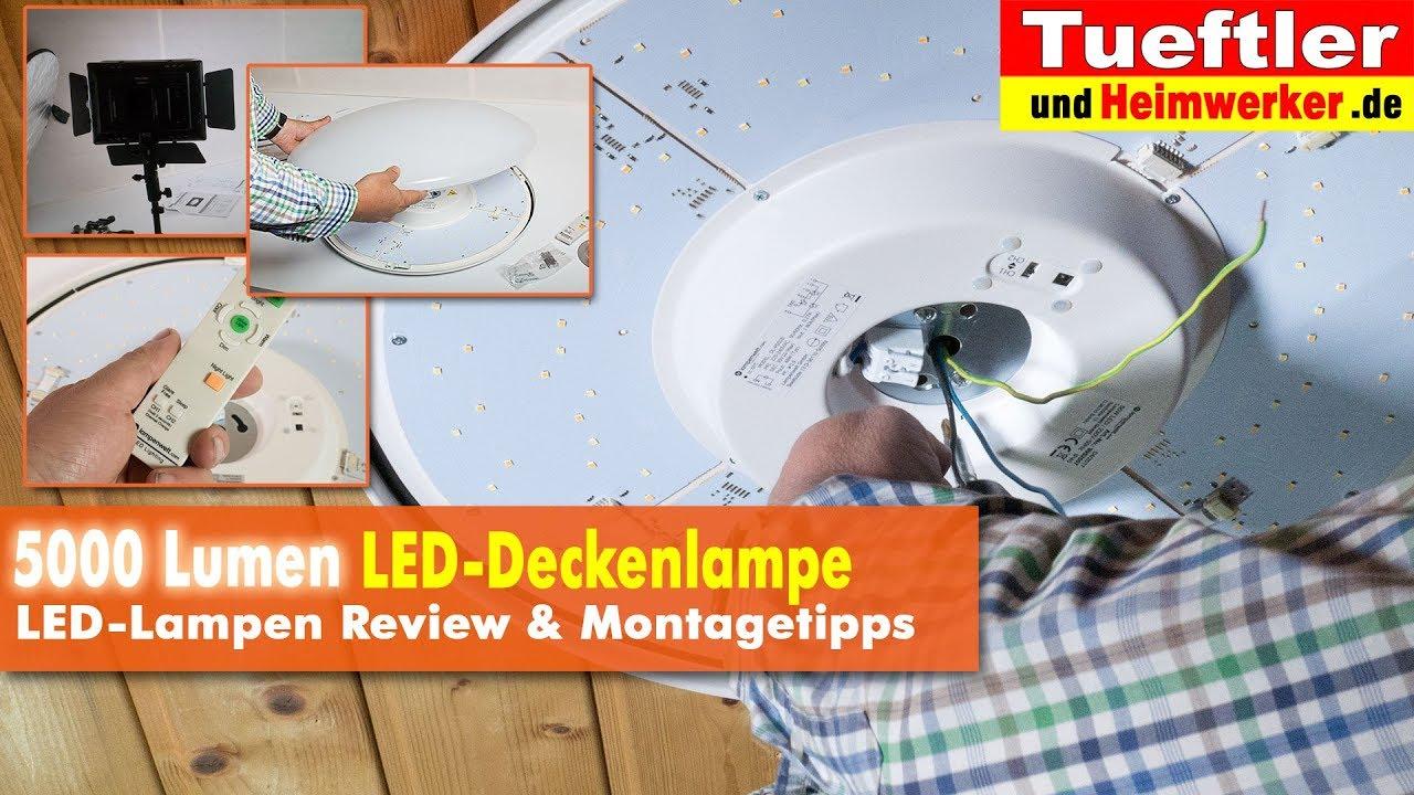 Richtig Helle 5000 Lumen Led Deckenlampe Joel Tuftler Diy Youtube