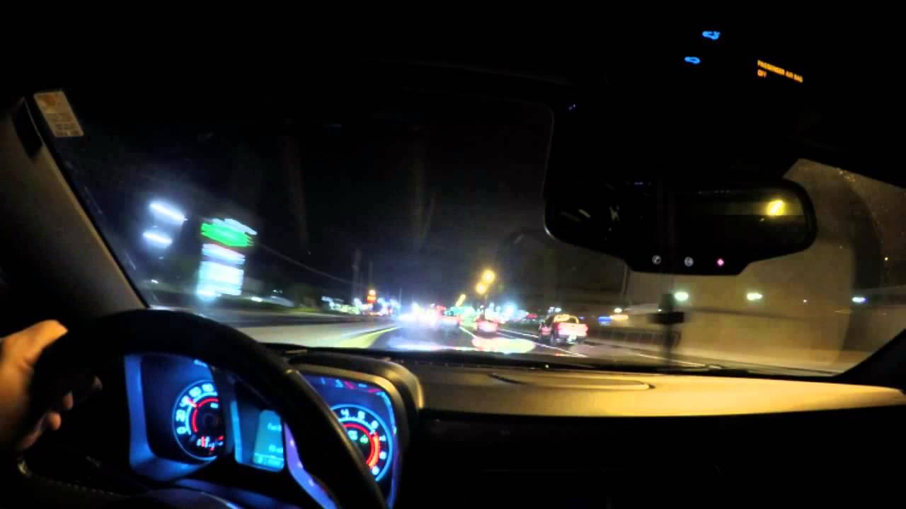 Gopro Hero 4 Night Test Inside Car