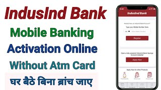 how to activate indusind mobile banking | indusind bank mobile banking registration | indusind bank