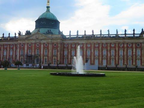 Potsdam, Germany - Neues Palais (New Palace) garden, also Potsdam University
