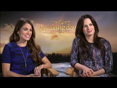 Nikki Reed & Elizabeth Reaser - The Twilight Saga: Breaking Dawn - Part 2 Interview with Tribute