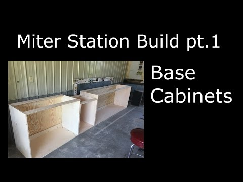 🕷 Miter Station Build Part 1 Building the Base Cabinets