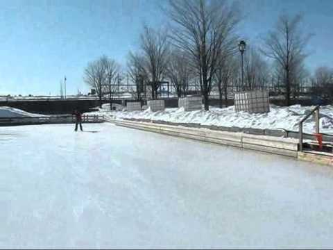 Montreal Travel -- Skating on the Bassin Bonsecours