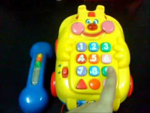 Fisher price clown telephone youtube for Clown fish price