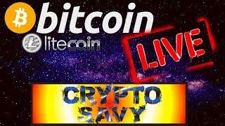 🔥Crypto Savy Live Crypto store live today!🔥BTC LTC price prediction, analysis, news, trading