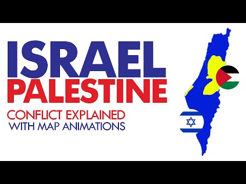 Israel Palestine Conflict Explained With Maps Animation | Israel  History | Nazuk Surat E Haal | NSH