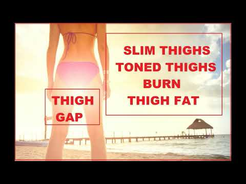Burn Thigh Fat! Get Thigh Gap Subliminal. Toned, Slim Thighs In The Sub Gym #fitness