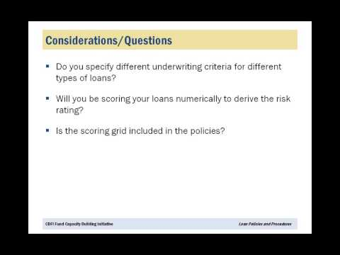 Loan Policies and Procedures