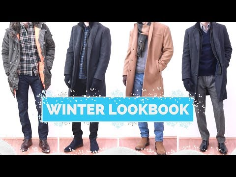 4 Winter Outfit Ideas for Men | Winter Lookbook 2017