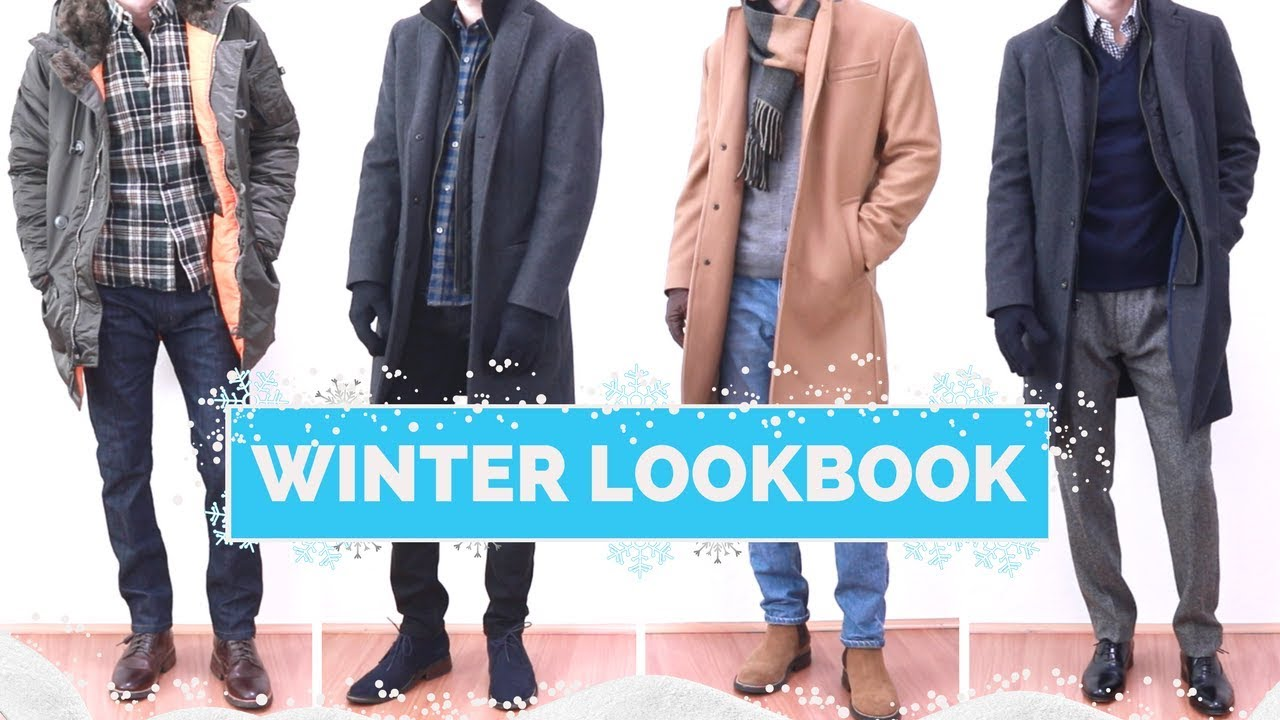 4 Winter Outfit Ideas for Men | Winter Lookbook 2017 - YouTube