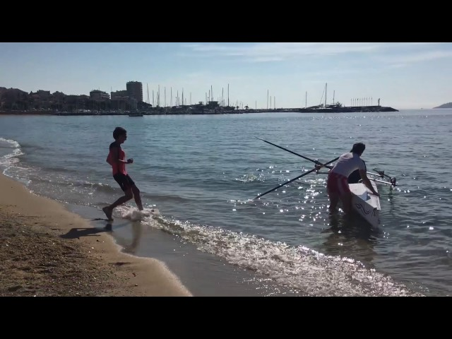 LiteRace 1X vs LiteRace 2X - Coastal rowing boat race by Liteboat