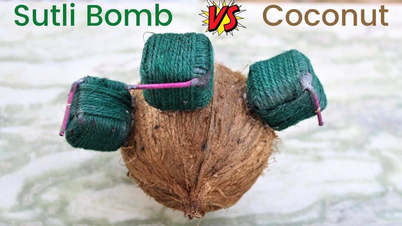 Download क्या दीवाली सुतली नारियल को तोड़ सकता है? Coconut VS Diwali Sutli | Crazy XYZ |
