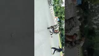 Horrible accident in jhansi, sadar bazaar, up