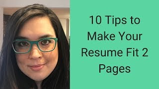 How to Make Your Resume Fit 2 Pages