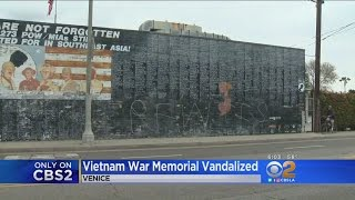 Vietnam Memorial In Venice Vandalized Again