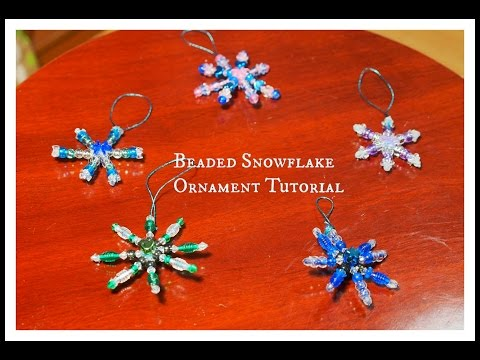 Beaded Snowflake Ornaments Tutorial