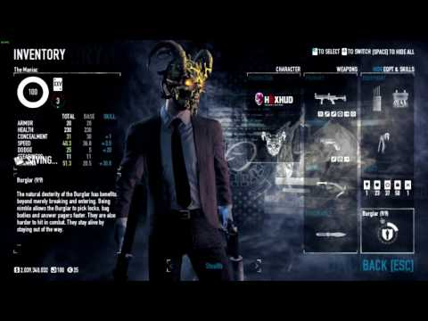 payday 2 complete stealth build one down youtube. Black Bedroom Furniture Sets. Home Design Ideas