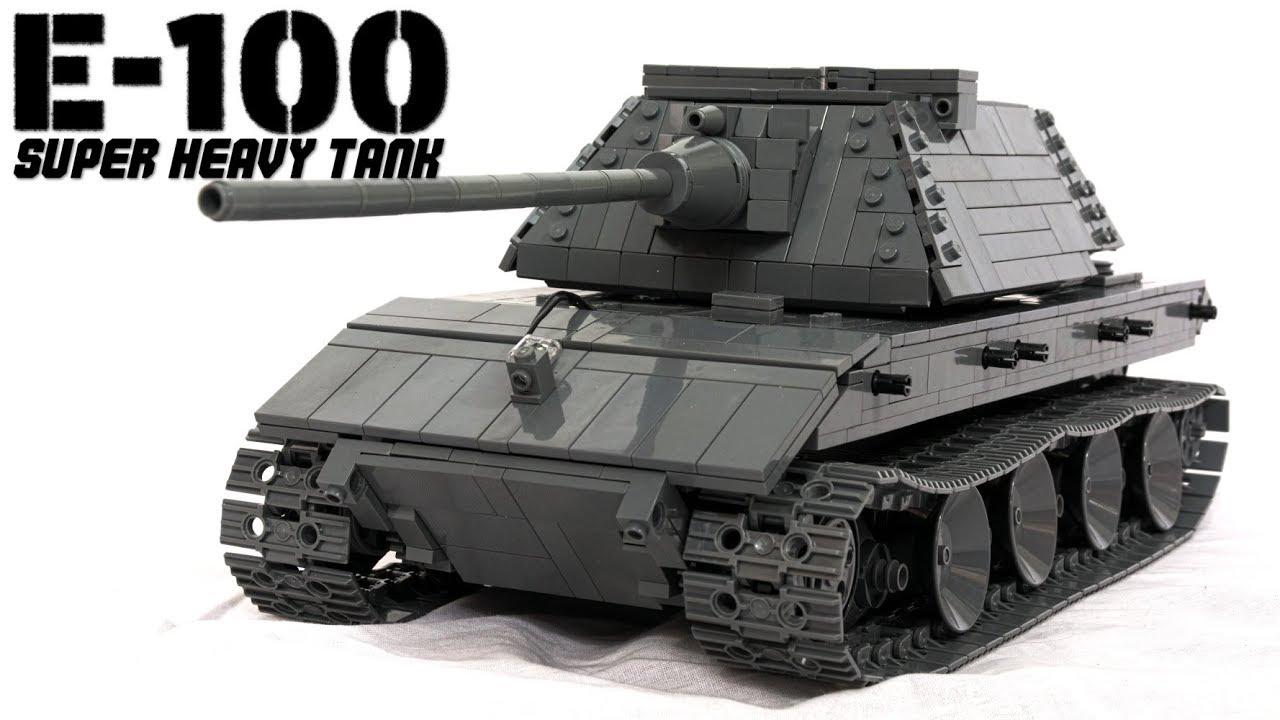 lego rc e 100 super heavy tank with instructions youtube