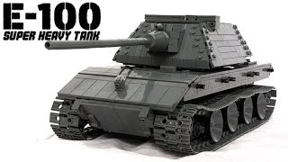 Lego RC E-100 super heavy tank (with Instructions)